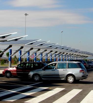 Solar Powered Parking Lots 11KW 240VAC