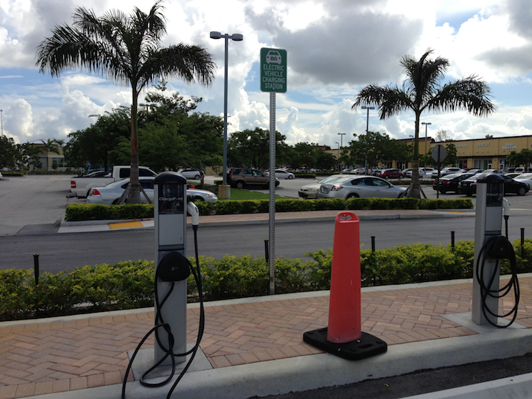 Electric Vehicle Charging Station Solar Powered