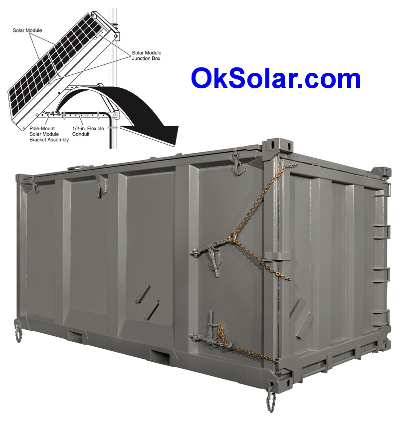 Military Solar Powered Shipping Container