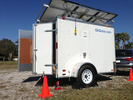Military Modular Energy Storage Solar Powered and Wind Assisted
