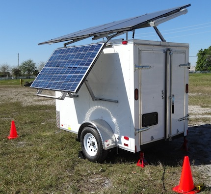 Mobile Disaster Trailer Solar Powered
