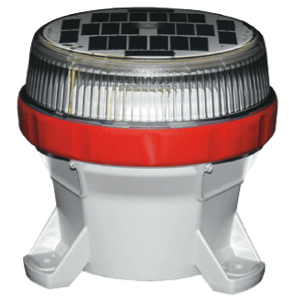 Bridge Light Solar Powered Beacon Red