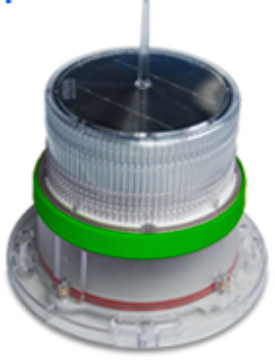 Solar Marine Navigation Light Green