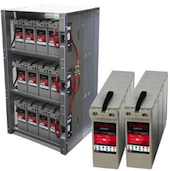 Shelf integrated battery rack for 48v systems