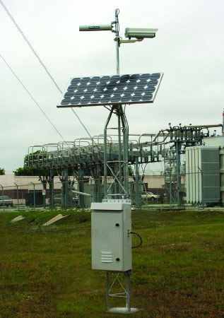 Solar Powered Wireless pipeline video surveillance