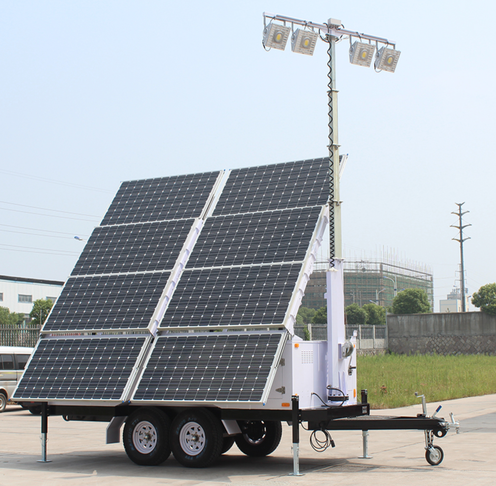 Solar Light Tower 57.6 Kwh