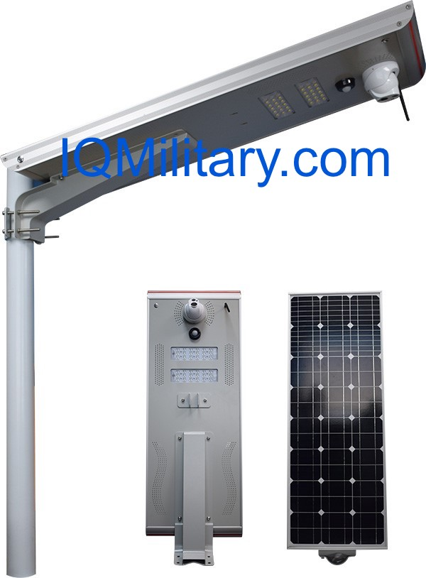 Solar Parking Lot Light with CCTV IP Camera
