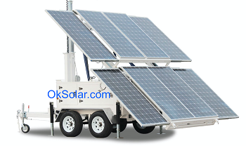 Solar Portable Supply Trailer Mounted