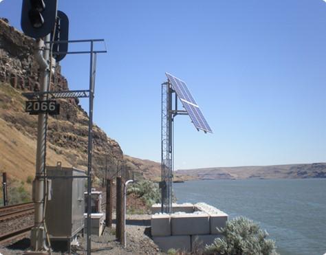 Solar Powered Railroad Crossing Signal | Solar Powered Industrial Railroad Crossing Signal | Industrial Area Crossing Signal.