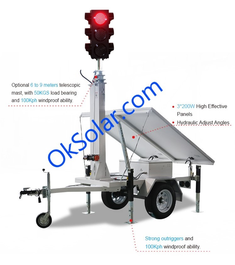 4 way solar traffic signal control portable, 4 way solar traffic signal control, solar traffic lights 4 ways traffic signal control, solar powered traffic warning light, 4 way traffic signal control, remote control portable traffic signal lights, temporary four ways solar traffic light, Traffic Control .