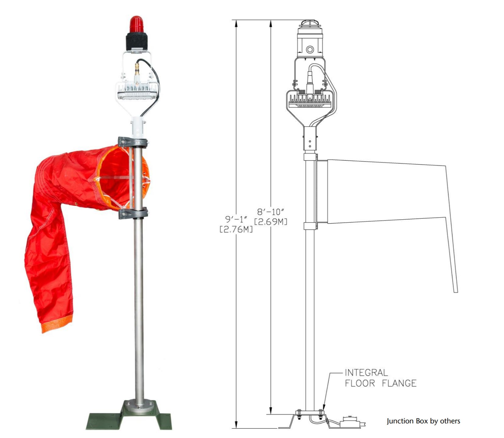 Solar Portable Wind Cone, Airport Solar Windsock, L-806 & L-806(L) Wind Cone, FAA Certified Airport Wind Cones, Internally LED lighted wind cone, Wind Cone L-806 & L-806(L) Wind Cone, FAA Certified Airport Wind Cones, L-806 Wind Cone provides a visual indication of wind direction and velocity, L-807 Wind Cone provides a visual indication of wind direction and velocity, L-806 & L-807 Wind Cone Light Kits. Solar Permanent LED Wind Cone, Solar Series Portable LED Wind Cone. Airport / Heliport Nylon Windsocks