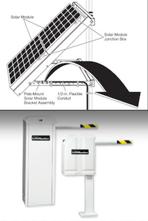 Ruggedized Gate Opener Solar Power
