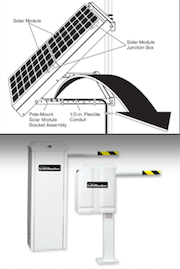 Ruggedized Gate Opener Solar Power