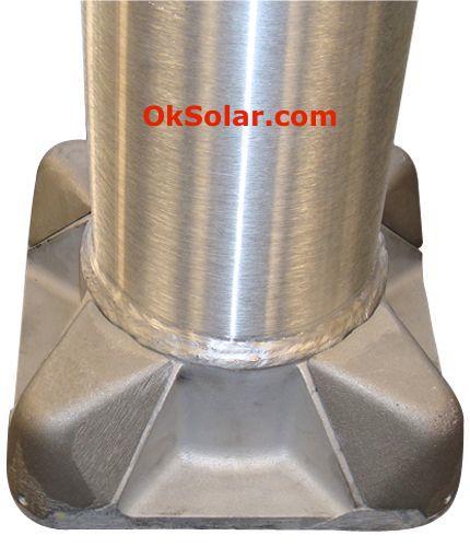 Round Tapered Aluminum Solar Light Pole 16FT