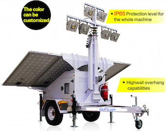 Solar Light Tower for Refugee Camps
