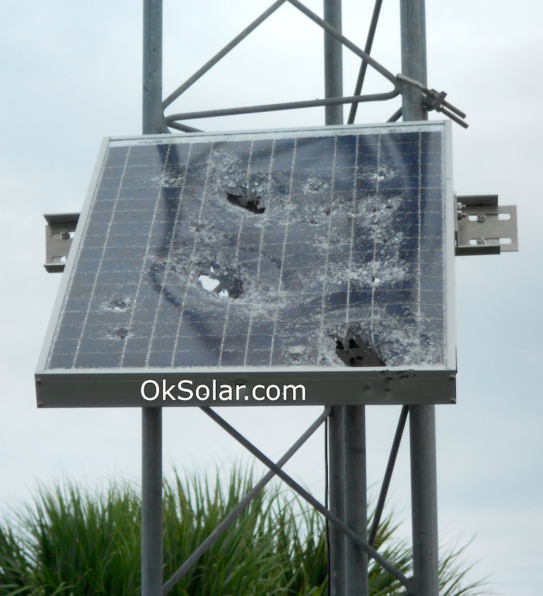 Ballistic Protection for Solar Modules