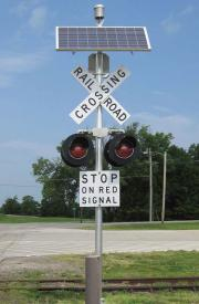Solar Powered Railway Crossing Warning Lights