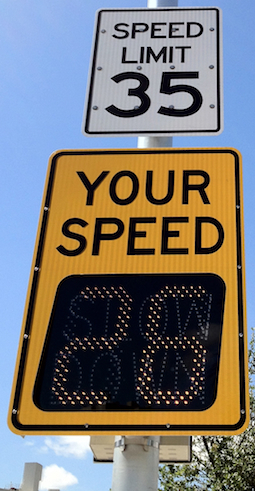 your speed sign, radar signs, driver feedback signs, speed display signs, traffic calming